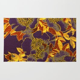 rich floral on purple Rug