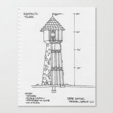 Rampion's (Rapunzel's) Tower Canvas Print