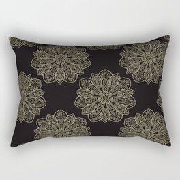 Floral Trendy Arabesque Mandalas Rectangular Pillow