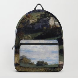 Gustave Courbet - Paysage du Jura Backpack