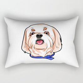 Shih Tzu Dog Puppy Doggie Rectangular Pillow