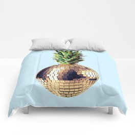 Ananas party (pineapple) blue version Comforters