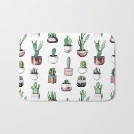 Cactus + Succulents Rose Gold Pattern by Nature Magick Bath Mat