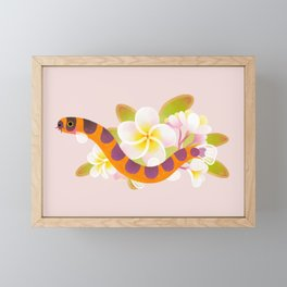 Kuhli loach and plumeria Framed Mini Art Print
