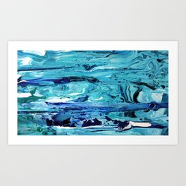 Blue Pool Art Print