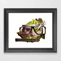Make me perfect | Collage Framed Art Print