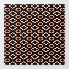 Browns Geometric PAttern Canvas Print