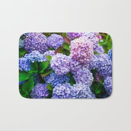 Purple Hydrangeas Bath Mat