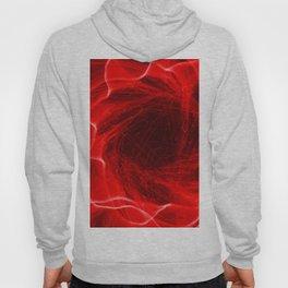 Red Flower Fiber Optic Light Painting Hoody