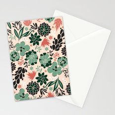 Succulent flowerbed Stationery Cards