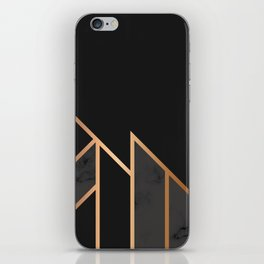Black & Gold 035 iPhone Skin