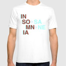 Insomnia / Insane MEDIUM White Mens Fitted Tee