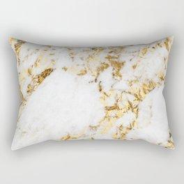 Luxe bright golden Rectangular Pillow