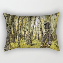 Rain-Soaked Aspen Bark Rectangular Pillow