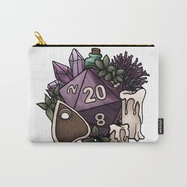 Witchy D20 Tabletop RPG Gaming Dice Carry-All Pouch