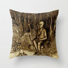 Mud Man Throw Pillow