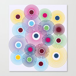 Colorful Circles in Water Pattern Canvas Print