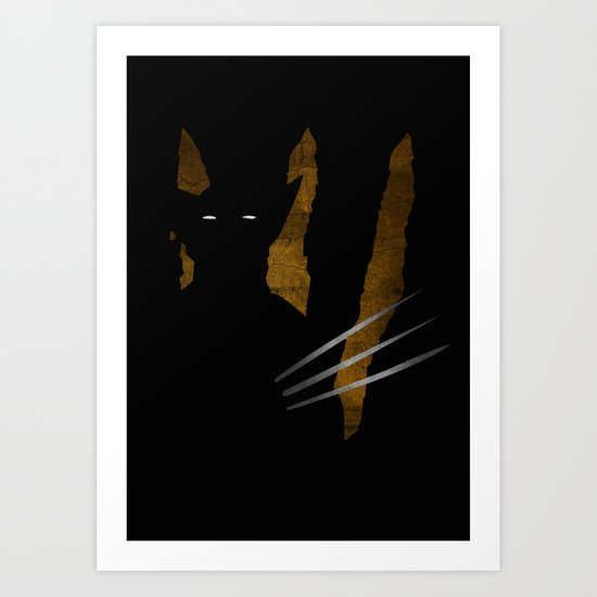 SuperHeroes Shadows : Wolverine Art Print