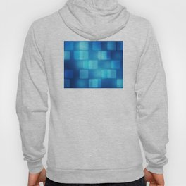 Multi-Blue Tiles Abstract Pattern Hoody