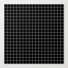 Square Grid Black Canvas Print