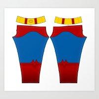 Superhero Leggings - Male 2 Art Print
