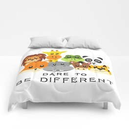 Dare to Be Different Gang of Animals Comforters