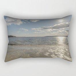 Cold Beach Day Rectangular Pillow