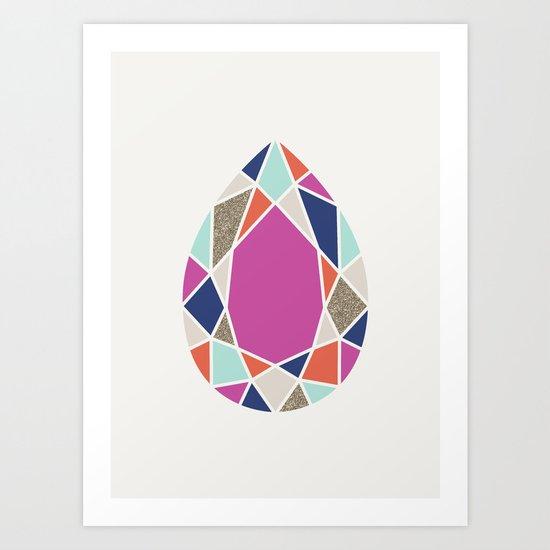 Facets Art Print