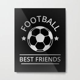 Football Best Friends II Metal Print