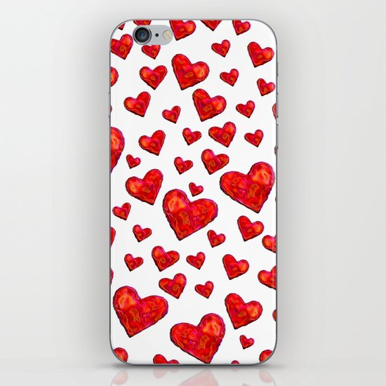 Hearts Motif iPhone & iPod Skin