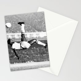 Pele In The Air With Brazil Stationery Cards