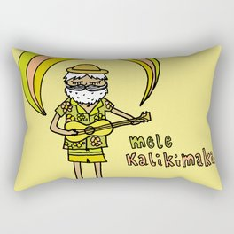 mele kalikimaka aloha christmas vibes by surfy birdy Rectangular Pillow