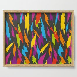 Abstract Party Poppers Pattern Serving Tray