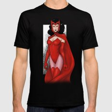 Scarlet Witch Mens Fitted Tee Black MEDIUM