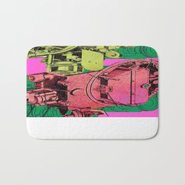 Machine Tile Pattern Bath Mat