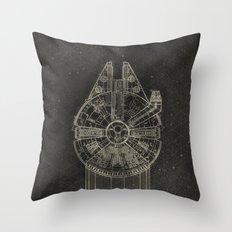 Millennium Falcon Throw Pillow