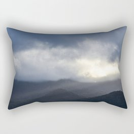 Light Streaming over mountains Rectangular Pillow