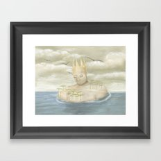 Island King Framed Art Print