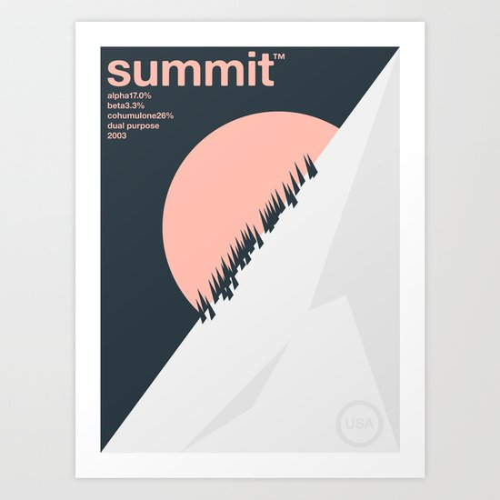 summit single hop Art Print