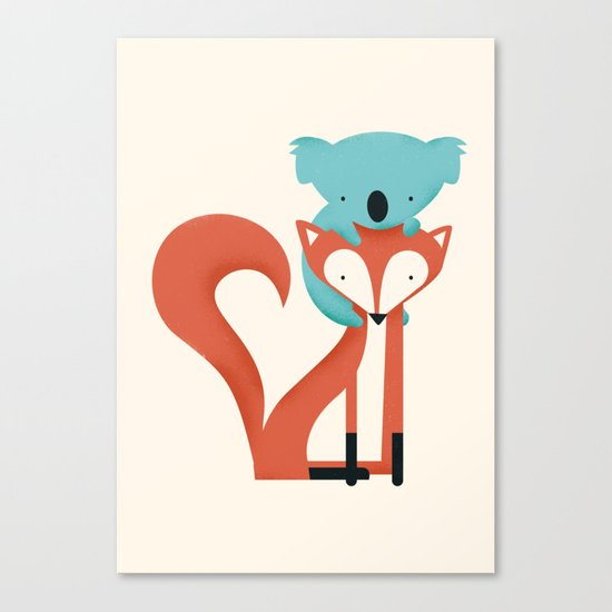 Fox & Koala Canvas Print