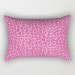 Leopard - Lilac and Pink Rectangular Pillow
