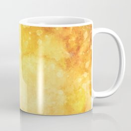 Watercolor yellow orange hand painted abstract pattern Coffee Mug