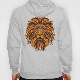 Angry Lion Face texture Hoody
