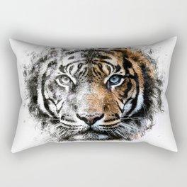 Tiger Face Rectangular Pillow