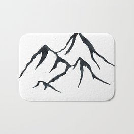 MOUNTAINS Black and White Bath Mat