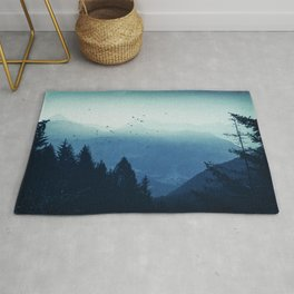Blue Valmalenco - Misty Blue Mountains Rug
