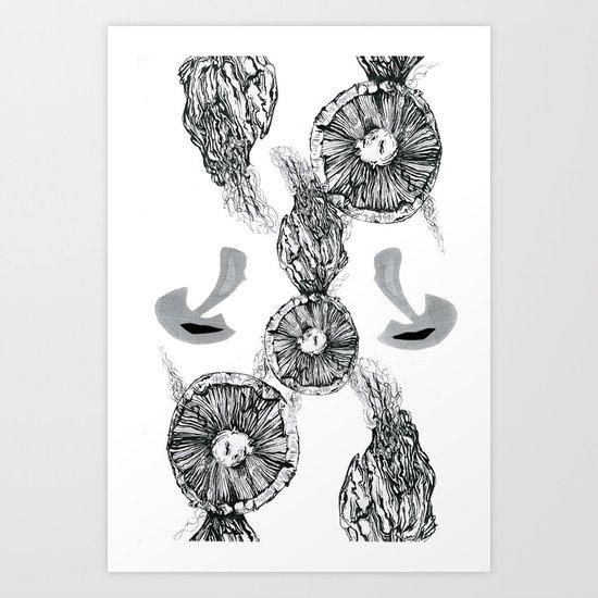 Fungi Abstraction Art Print