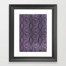 Purple Glitter Snakeskin Framed Art Print