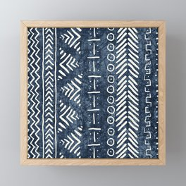 Mud Cloth Stripe Framed Mini Art Print