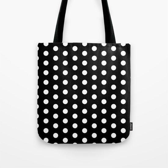 Black White Dots Tote Bag